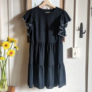 Who What Wear // short sleeve tiered mini dress